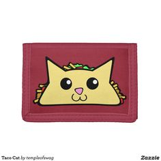 Taco Cat Tri-fold Wallets. Regalos Padres, fathers gifts, #DiaDelPadre #FathersDay