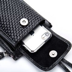 """Universe of goods - Buy """"Genuine Leather Women Mobile Phone Bags Fashion Small Change Purse Female Woven Buckle Shoulder Bags Mini Messenger Bag Black"""" for only USD. Mini Messenger Bag, Mini Crossbody Bag, Tote Bag, Cell Phone Pouch, Change Purse, Purses, Shoulder Bags, Free Shipping, Female"""