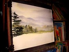 Watercolour Landscape Painting Demonstration featuring Eskdale in the Lake District Part 1 of 2