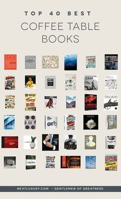 coffee table books, from the name itself, give a rough idea on