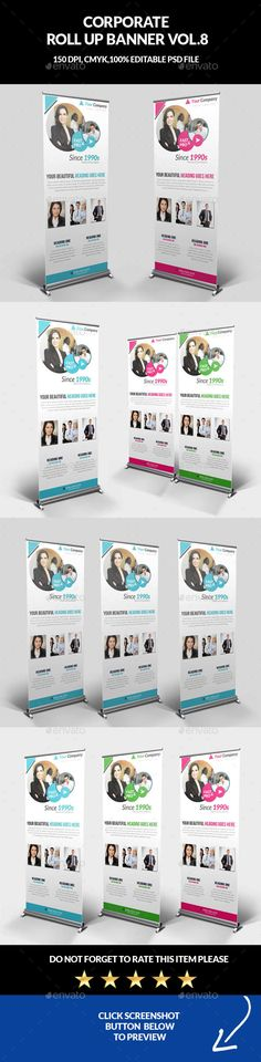 Business Roll-Up Banner Template PSD #design Download: http ...