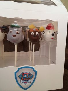 Paw Patrol Cake Pops by LoKieTreats on Etsy, 12 for $26.00