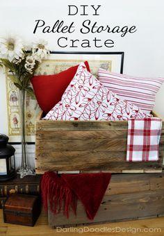 14d61e7d639 DIY Reclaimed Pallet Storage Crates Pallet Storage