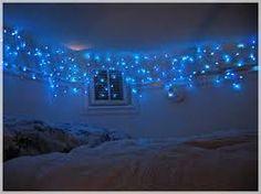 twinkle lights around ceiling