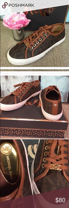 ✂️TODAY ONLY✂️ MK  Sneakers 6 & 9 Special Price Today ! NWOT classic rich chocolate brown sneakers with MK logo imprinted throughout.  CLASSY! ❌Trades. No box. [HL] Michael Kors Shoes Sneakers