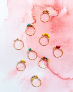 Is there anything more summery than colourful wooden beads? They remind me of lazy beach days and tropical cocktails! And these rings are so easy to make you can have one for every day of the summer. Head over to the blog for the tutorial today!