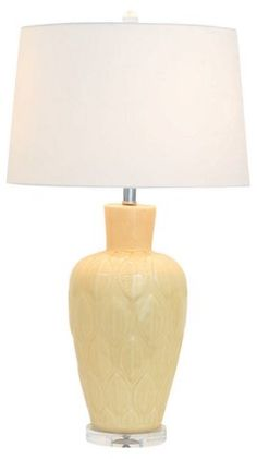Bay Leaf Table Lamp, Yellow $329.00