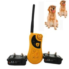 600 Yards Electric Remote Small Medium TWO DOG Pet Waterproof Training Vibrate Shock Collar Auto Anti Bark New Can be used as 2 dog training system. Can be used manually as a remote training collar or as an automatic anti-bark collar. If necessary, remote function can also be used while in auto mode. Vibration, ultrasound and corrective shock can be used separately or in combination for a total of... #Fuloon #Pet_Products