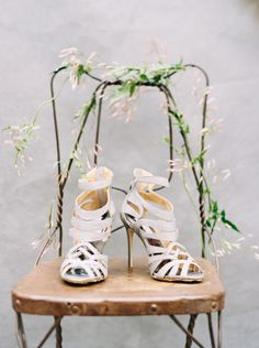 Romantic, natural wedding inspiration: http://www.stylemepretty.com/2014/07/08/romantic-natural-wedding-inspiration/ | Photography: http://defioreart.com/ #shoes #sandals