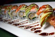 Long Island roll (video n written recipe) Vietnamese Recipes, Asian Recipes, Ethnic Recipes, Homemade Sushi Rolls, Sushi Recipes, Yummy Recipes, Good Food, Yummy Food, Tasty