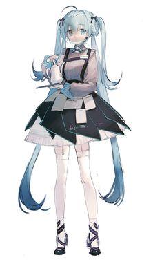 Kawaii Anime Girl, Anime Art Girl, Vocaloid Characters, Anime Girl Drawings, Character Design Inspiration, Manga Girl, Anime Style, Cute Art, Art Reference
