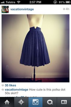 vintage skirt with detail, shaped waistband