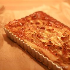 Onion Bacon Quiche recipe | Bake to the roots