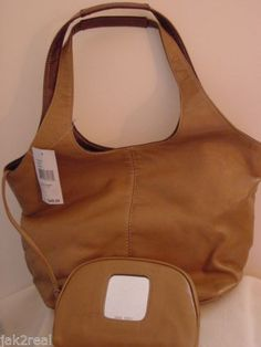 Only $39 NINE WEST Tote bag Brand New Honey-camel Leather, plain front