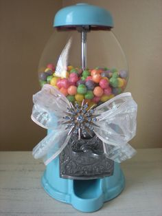Gumball Machine Aqua Blue -  without the brooch