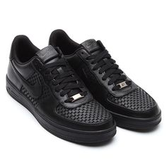 #Nike Air Force 1 Downtown LTH QS - Black/Black-Black #sneakers