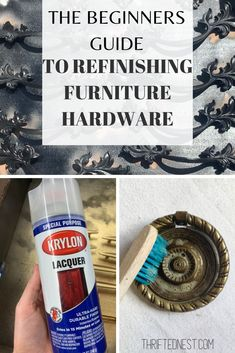 Are you looking for a step-by-step tutorial on refinishing furniture hardware? Learn how to clean, prep a - - Are you looking for a step-by-step tutorial on refinishing furniture hardware? Learn how to clean, prep and how to paint Dresser Hardware, Dresser Drawer Handles, Drawer Pulls, Brass Hardware, Spray Paint Dresser, Dresser Refinish, Furniture Handles, Furniture Hardware, Painting Hardware