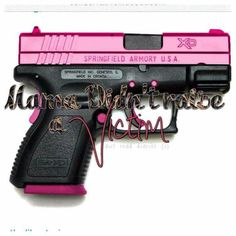 Springfield XD in pink and black. I want!