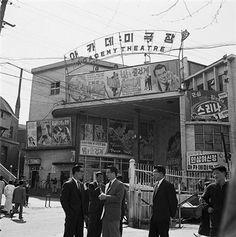1965 Academy Theater in Seoul, Korea.  1965년 세종로 아카데미 극장