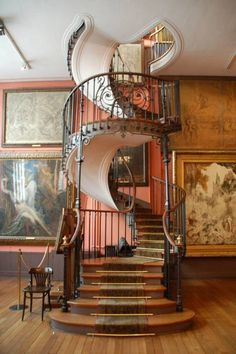 spiral staircase and library loft - Google Search