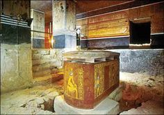 Interior View of Tomb of pharaoh Amenhotep II: Sarcophagus Room. KV35, Valley of the Kings, Egypt