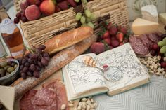 The perfect picnic. Feasts are best when shared with friends. #books #picnic #nautical #rustic