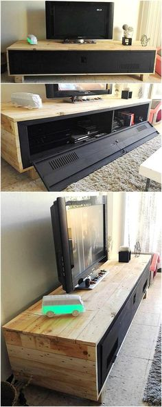 pallets wood tv stand