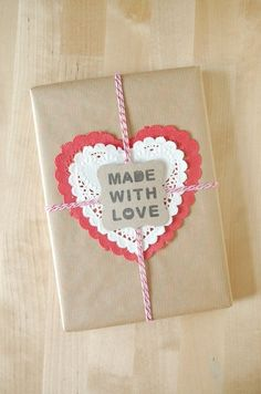 About the nice things: Nice Packaging: Craft y blondas de corazón