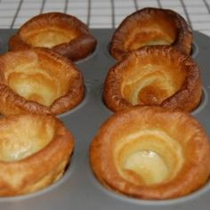 Mum always made Yorkshire pudding with roast beef. It& best with Prime Rib and is perfect for soaking up the great Au Jus that the roast renders. Or just pour gravy over them. It& a super easy and delicious British treat! How To Make Yorkshire Pudding, Yorkshire Pudding Recipes, Roast Beef With Yorkshire Pudding, Yorkshire Pudding For Breakfast, Yorkshire Pudding Recipe Martha Stewart, Yorkshire Pudding No Milk, Prime Rib Roast, Pork Roast, Side Dishes