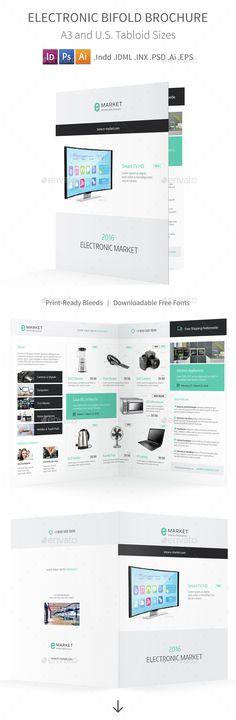 Modern Brochure / Catalog Template Template, 17 and Violets - half fold brochure template