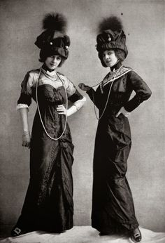 VINTAGE PHOTOGRAPHY: Dress for the races by J. Dukes, photo by Reutlinger, Les Modes May 1912