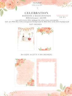 Floral Watercolor Peach Pink Watercolor Card Backgrounds Borders with Transparent Background PNG Pink Watercolor, Watercolor Wedding, Watercolor Cards, Bridal Shower Party, Bridal Shower Invitations, Valentine Day Cards, Valentines, Bachelorette Party Planning, Girl Clipart