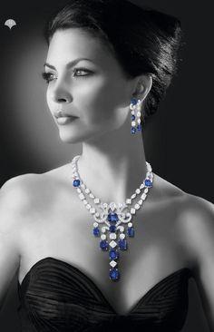 Magazine for Graff Diamonds Jewelry Show, High Jewelry, Jewelry Design, Diamond Pendant Necklace, Diamond Jewelry, Sapphire Necklace, Graffiti, Stylish Jewelry, Bridal Jewelry
