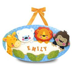 Precious Planet Personalized Baby Wall Plaque