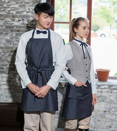 (5 pcs get 15% off) Korean fashion short/long cowboy denim coffee bakery hotel restaurant neck hanging apron-in Food Service from Novelty & Special Use on Aliexpress.com | Alibaba Group
