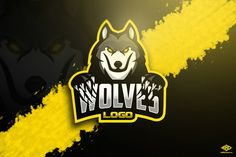 Cool wolf mascot logo perfect for sports/e sports team. Cool Wolf, Logos Retro, Game Logo Design, Esports Logo, Sports Team Logos, Graffiti, Eagle Logo, Nfl Logo, Great Logos