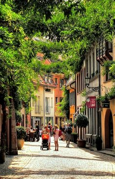 Freiburg/Breisgau-- a very gorgeous little town in southern Germany in Baden-Württenberg