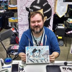 Local artist making good #comics. Zak Kinsella at #DCC2015 Get coverage of the business of comics and genre entertainment at The Full Bleed -- http://www.thefullbleed.net