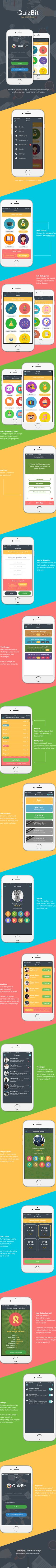 QuizBit | App UI Design on Behance