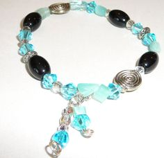 CLEARANCE Elastic Stretch Cord Bracelet Glass Bead by BlissfulVine, $10.00