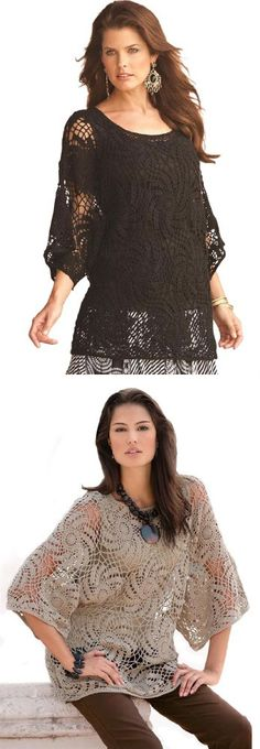 Denim 24/7 Women's Plus Size Pinwheel Crochet Sweater - Roaman's 5 Star Bestseller! Ramie/Cotton. Hand wash. Imported. By Denim 24/7® Scoop neck Handcrafted in an open work, pinwheel pattern Dolman sleeves About 28 Plus size sweaters - pinwheel crochet s... - Pullovers - Apparel -