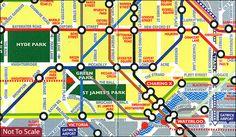 London GO Metro Map - Stanfords - £1.99