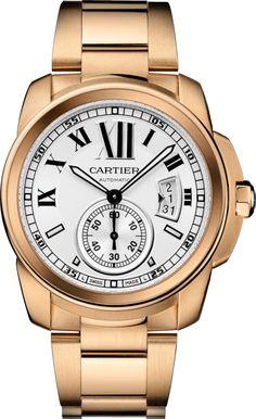 #Cartier Calibre De Cartier Pink (Rose) Gold #Watch