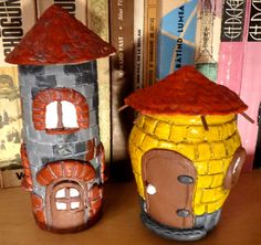 How to paint toy houses made of clay