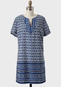 """Age Of Art Printed Shift Dress, to me this dress screams """"put a belt on me""""."""