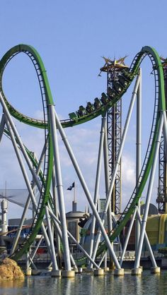 The Hulk ride, Universal Orlando Resort, Orlando, Florida, United States. Remember crying soo bad before I went on this then loving every millisecond once on it ha!