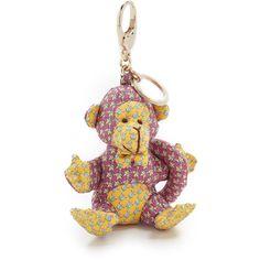 Salvatore Ferragamo Monkey Bag Charm ($170) ❤ liked on Polyvore featuring jewelry, pendants, rosa, multi color jewelry, monkey charm, salvatore ferragamo jewelry, tri color jewelry and multi colored jewelry