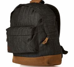 4a0849e04e23 Mi-Pac Denim Backpack - Black Mi-Pac backpack