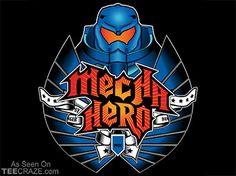 Mecha Warrior T-Shirt - http://teecraze.com/mecha-warrior-t-shirt/ -  Designed by ntesign