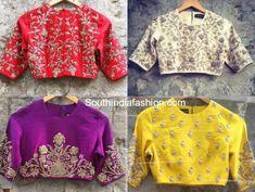 Jayanti Reddy: A Label That Wins All Hearts Blouse Designs High Neck, Choli Designs, Fancy Blouse Designs, Sari Blouse Designs, Bridal Blouse Designs, Traditional Blouse Designs, Designer Blouse Patterns, Design Patterns, Jayanti Reddy